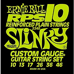 Ernie Ball 2240 Regular Slinky RPS 10 Electric Guitar Strings (P02240)