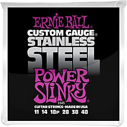 Ernie Ball 2245 Stainless Steel Power Slinky Strings (P02245)