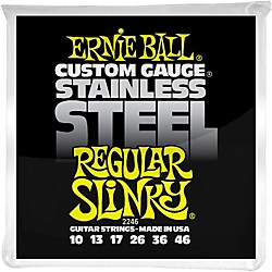 Ernie Ball 2246 Stainless Steel Regular Slinky Electric Guitar Strings (P02246)