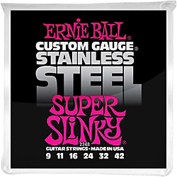 Ernie Ball 2248 Super Slinky Stainless Steel Electric Guitar Strings (P02248)