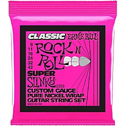 Ernie Ball 2253 Super Slinky Pure Nickel Electric Guitar Strings (P02253)
