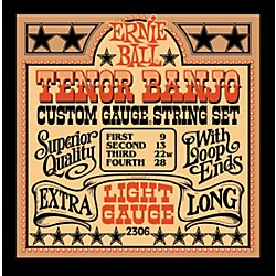 Ernie Ball 2306 Light Gauge Tenor Banjo Strings (P02306)