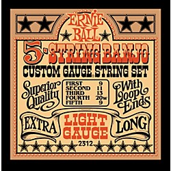 Ernie Ball 2312 Light Gauge 5-String Banjo Strings (P02312)