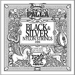 Ernie Ball 2406 Ernesto Palla Nylon Black and Silver Classical Acoustic Guitar Strings (P02406)