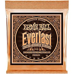 Ernie Ball 2544 Everlast Phosphor Medium Acoustic Guitar Strings (P02544)