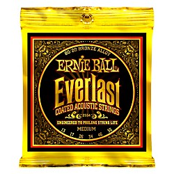 Ernie Ball 2554 Everlast 80/20 Bronze Medium Acoustic Guitar Strings (P02554)