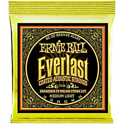 Ernie Ball 2556 Everlast 80/20 Bronze Medium Light Acoustic Guitar Strings (P02556)