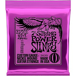 Ernie Ball 2620 Nickel 7-String Power Slinky Electric Guitar Strings (P02620)