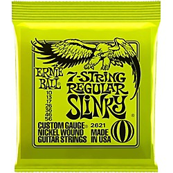 Ernie Ball 2621 Nickel 7-String Slinky Electric Guitar Strings (P02621)