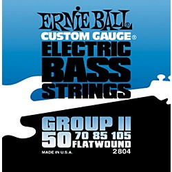 Ernie Ball 2804 Flat Wound Group II Electric Bass Strings (P02804)