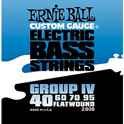 Ernie Ball 2808 Flat Wound Group IV Electric Bass Strings (P02808)