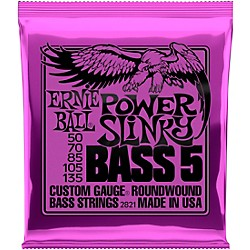 Ernie Ball 2821 Power Slinky 5-String Bass Strings (P02821)