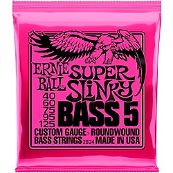 Ernie Ball 2824 Super Slinky 5-String Bass Strings (P02824)