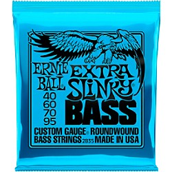 Ernie Ball 2835 Extra Slinky Round Wound Bass Strings (P02835)