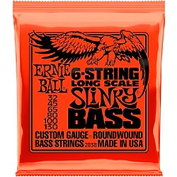 Ernie Ball 2838 Slinky Nickel Round Wound 6-String Electric Bass Strings (P02838)