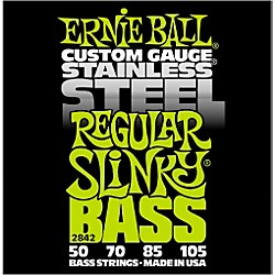 Ernie Ball 2842 Regular Slinky Stainless Steel Bass Strings (P02842)