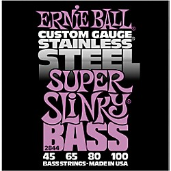 Ernie Ball 2844 Super Slinky Stainless Steel Bass Strings (P02844)