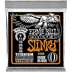 Ernie Ball 3122 Coated Electric Hybrid Slinky Guitar Strings (3122)