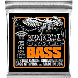 Ernie Ball 3833 Coated Bass Strings - Hybrid Slinky (3833)
