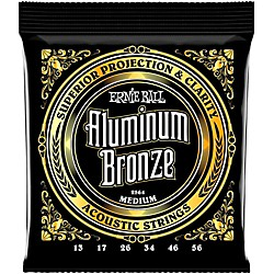 Ernie Ball Aluminum Bronze Medium Acoustic Guitar Strings (P02564)