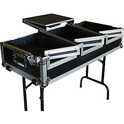 Eurolite DJ CD Coffin Case with Laptop Shelf and Folding Table Legs (USED004000 AC-DJCD12WCTS)