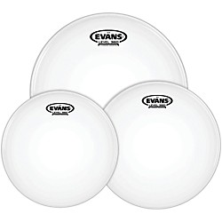 Evans G12 Coated White 10/12/16 Rock Drum Head Pack (ETP-G12CTD-R)