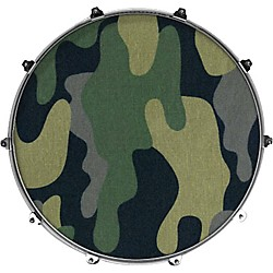 Evans Inked by Evans Fabric Series Kick Drumhead (INK24FBRFLWR)