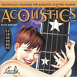 Everly 7011 Acoustics 80/20 Light Acoustic-Electric Guitar Strings (7011)