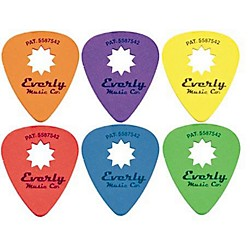 Everly Star Grip Guitar Pick Dozen (3002-R)