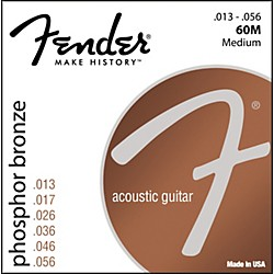 FENDER 60M Phosphor Bronze Acoustic Strings - Medium (0730060408)