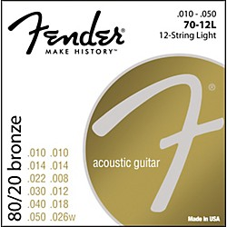 FENDER 70-12L 80/20 Bronze 12-String Acoustic Strings - Light (0730070423)
