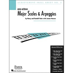 Faber Music One-Octave Major Scales And Arpeggios Skill Sheet No.3 - Faber Piano (420024)