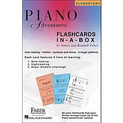 Faber Music Piano Adventures FlashCards In-A-Box (Primer Level Through 2A Elementary) - Faber Piano (420218)