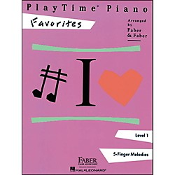 Faber Music Playtime Piano Favorites Level 1 5 Finger Melodies - Faber Piano (420122)