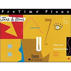 Faber Music Pretime Piano Jazz & Blues Book Primer Level Beginning Reading - Faber Piano (420156)