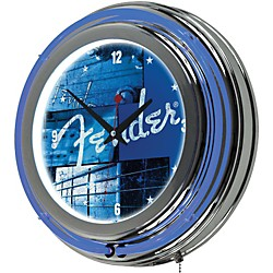"Fender ""Stacked Blue"" Neon Clock (9188892506)"