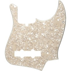 Fender 10-Hole Standard Jazz Bass Pickguard Aged White Pearl (099-2177-000)