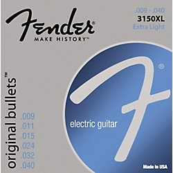 Fender 3150XL Original 150 Pure Nickel Bullet-End Electric Guitar Strings - Extra Light (073-3150-402)