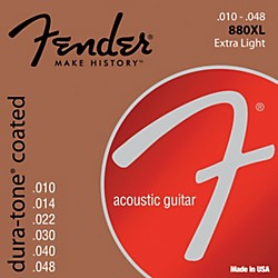 Fender 880XL Coated 80/20 Bronze Acoustic Guitar Strings - Extra Light (0730880002)