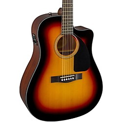 Fender CD60CE Cutaway Dreadnought Acoustic-Electric Guitar (0961536232)
