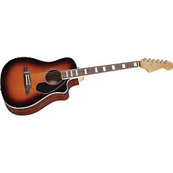 Fender Malibu SCE Solid Top Cutaway Acoustic-Electric Guitar (0968602032)