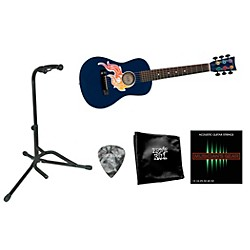 First Act Flame Bling Acoustic Guitar Bundle with Accessory Pack (Bling 30 Bundle)