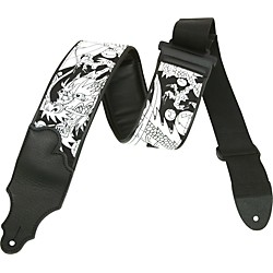 "Franklin Strap 3"" Padded Dragon Guitar Strap with Leather Ends (PB2)"