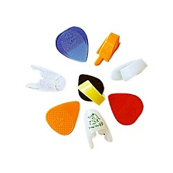Fred Kelly Picks Variety Bag Guitar Picks 8pcs: 1 Bumblebee, 2 Freedom Fingers, 1 Speed, 1 Slick & 3 Flat Picks (VAR-1-8)