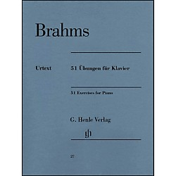 G. Henle Verlag 51 Exercises For Piano By Brahms (51480027)