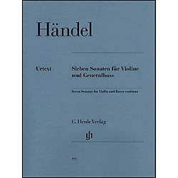 G. Henle Verlag 7 Sonatas for Violin and Basso Continuo By Handel (51480191)