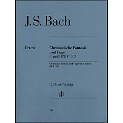 G. Henle Verlag Chromatic Fantasy and Fugue D minor BWV 903 and 903a By Bach (51480163)