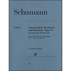 G. Henle Verlag Fantasy Pieces For Piano And Clarinet Opus 73 (Version For Violoncello) By Schumann (51480422)