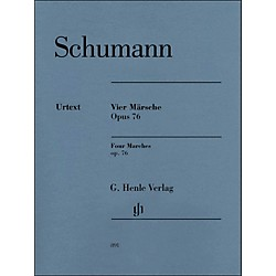 G. Henle Verlag Four Marches Op. 76 Piano Solo By Schumann / Herttrich (51480891)