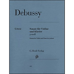 G. Henle Verlag Sonata For Violin And Piano In G Minor By Debussy (51480410)